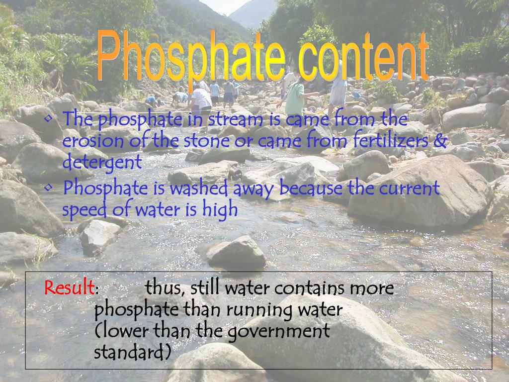Phosphate content