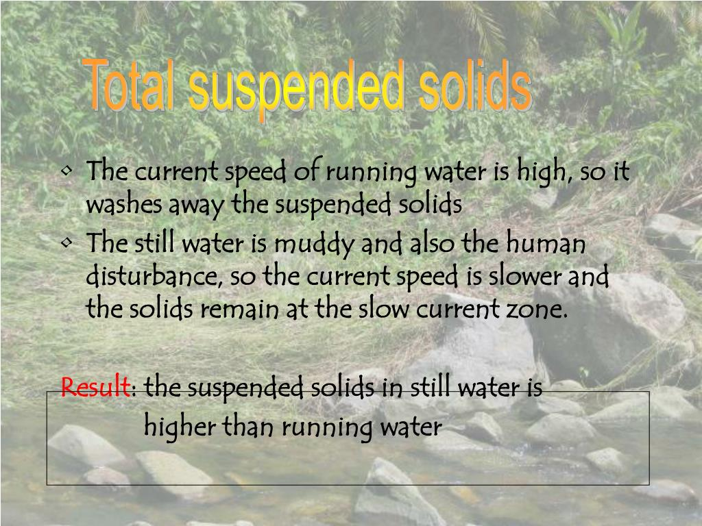 Total suspended solids