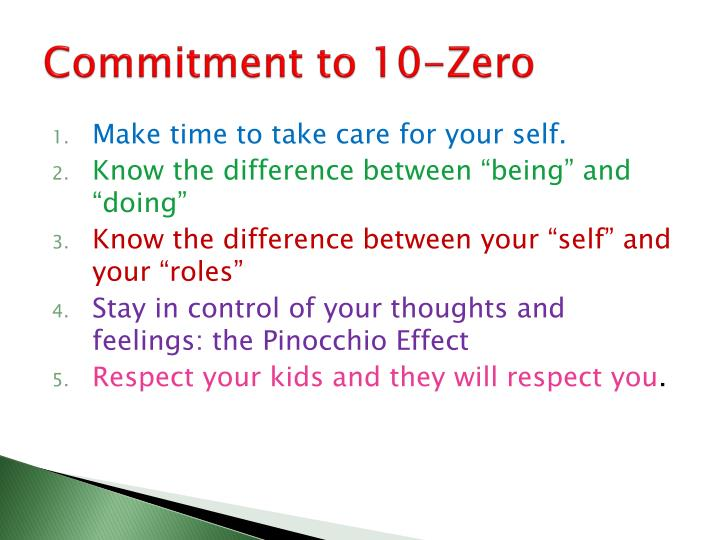 Commitment to 10-Zero