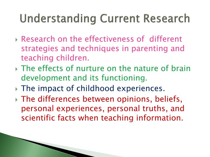 Understanding Current Research