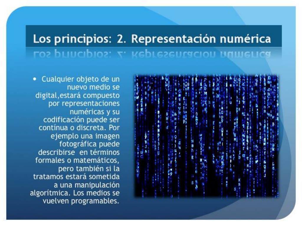 Los principios: 2. Representación numérica