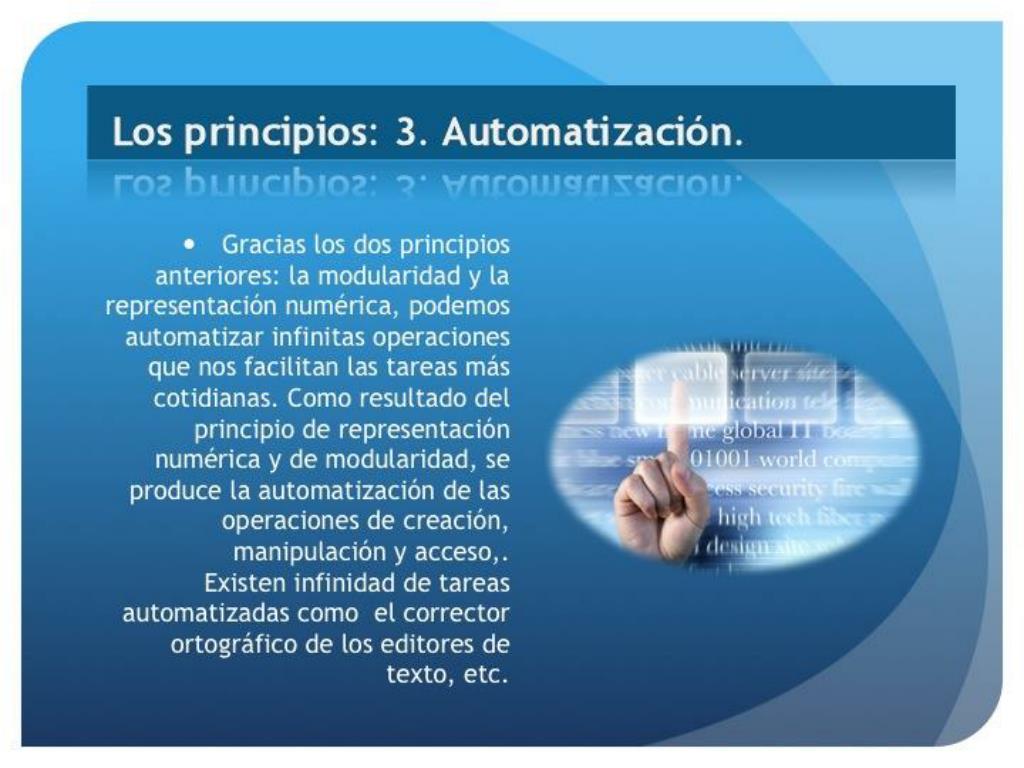 Los principios: 3. Automatización.