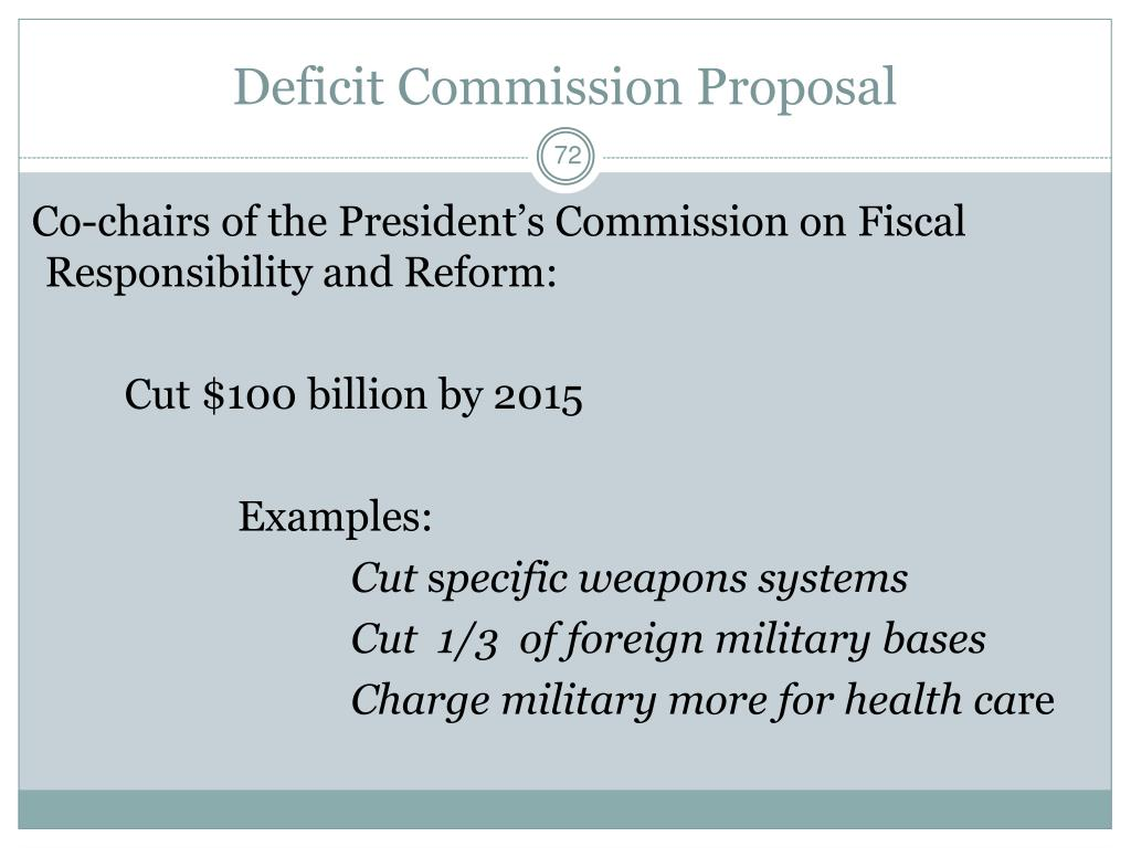 Deficit Commission Proposal