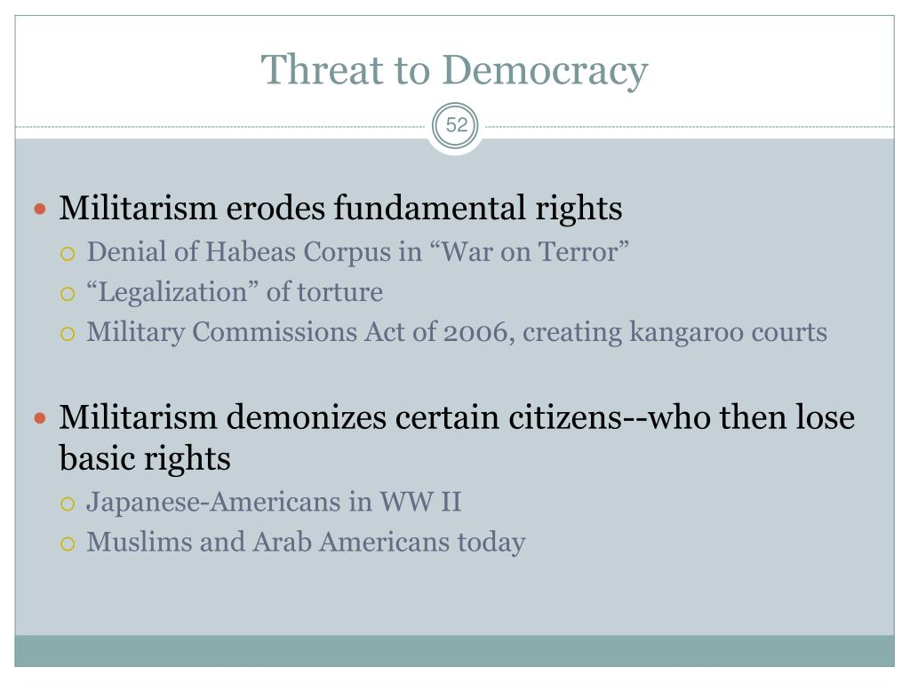 Threat to Democracy