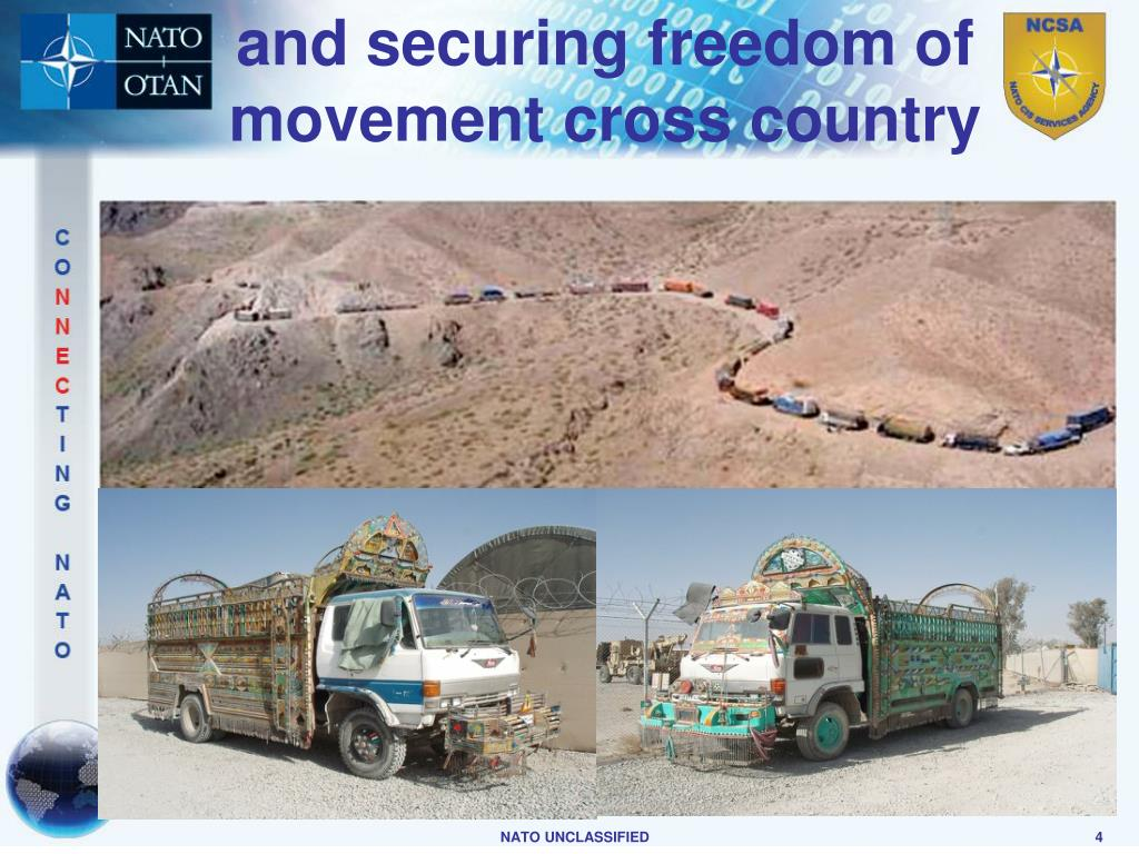 and securing freedom of movement cross country