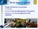 ncsa support to isaf11