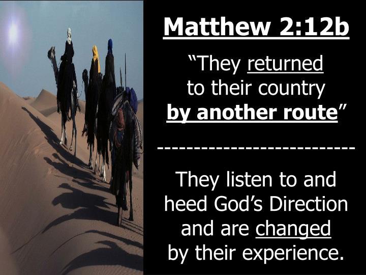 Matthew 2:12b
