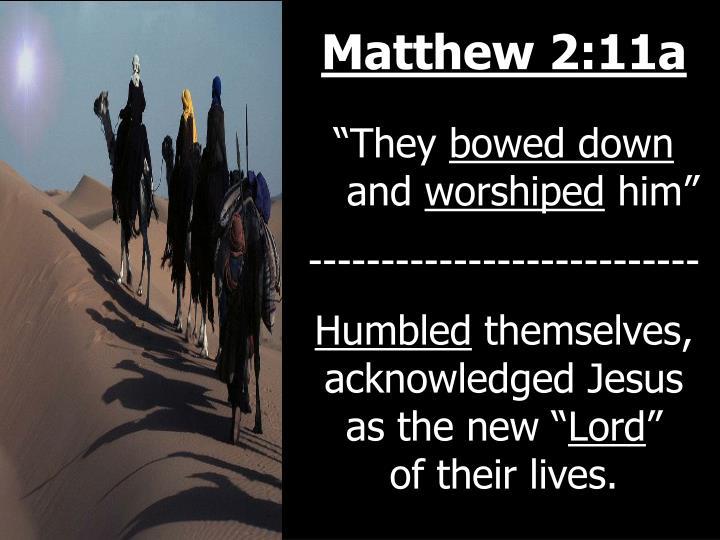 Matthew 2:11a