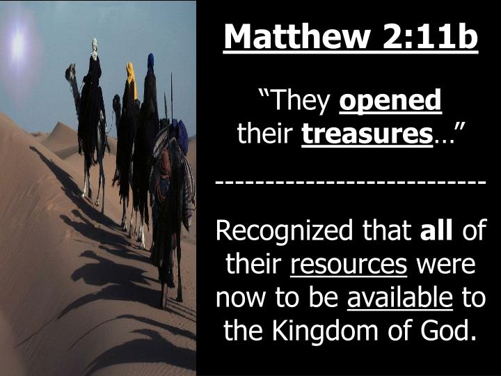 Matthew 2:11b
