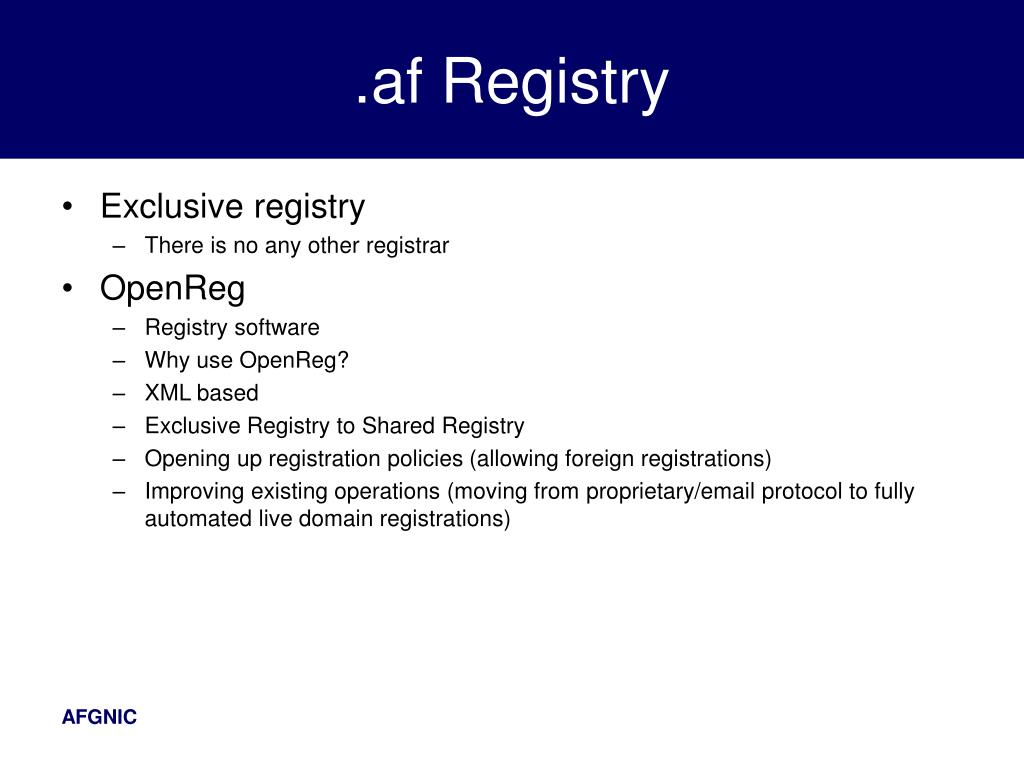 .af Registry