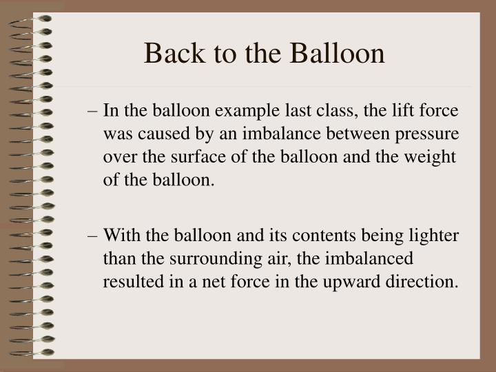 Back to the Balloon