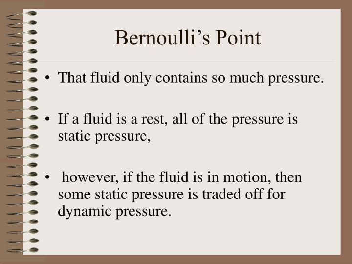 Bernoulli's Point