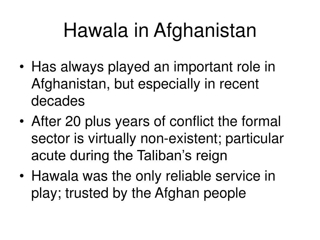 Hawala in Afghanistan