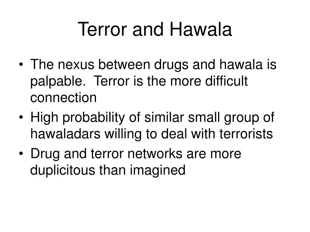 Terror and Hawala