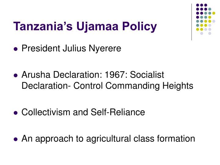Tanzania's Ujamaa Policy