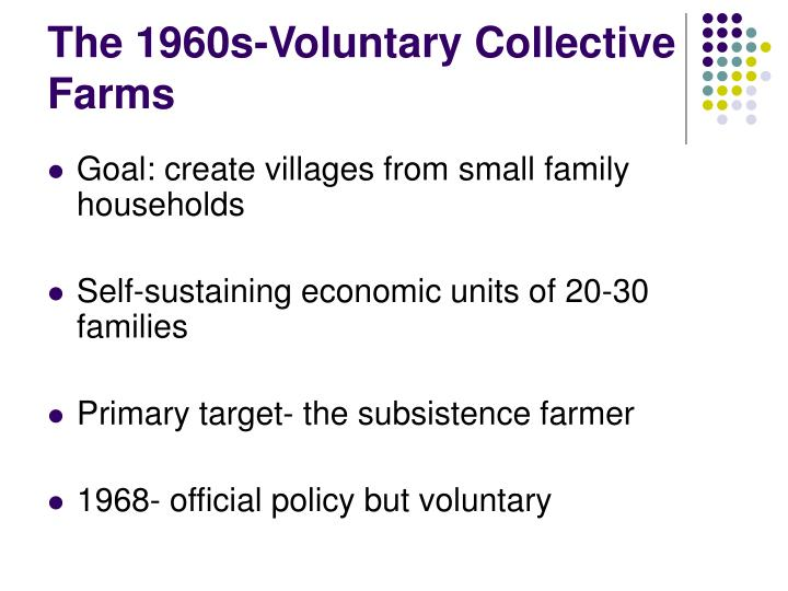 The 1960s-Voluntary Collective Farms