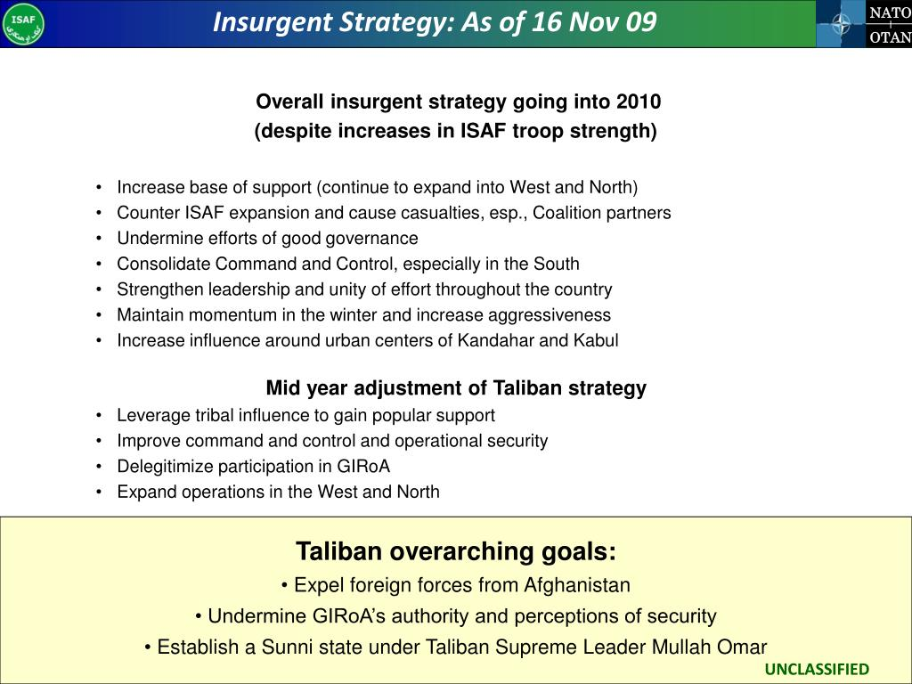 Insurgent Strategy: As of 16 Nov 09