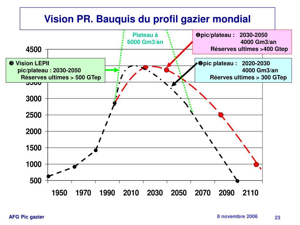 Vision PR. Bauquis du profil gazier mondial