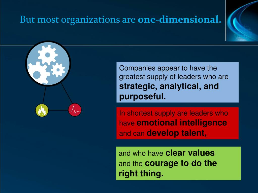 But most organizations are