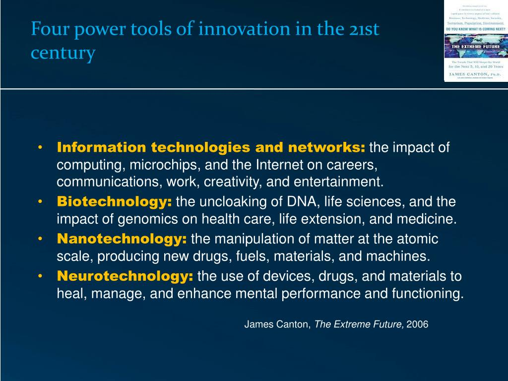 Four power tools of innovation in the 21st century