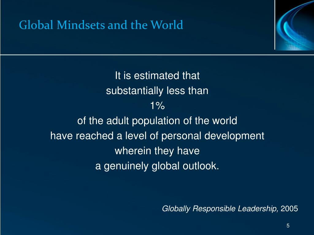 Global Mindsets and the World