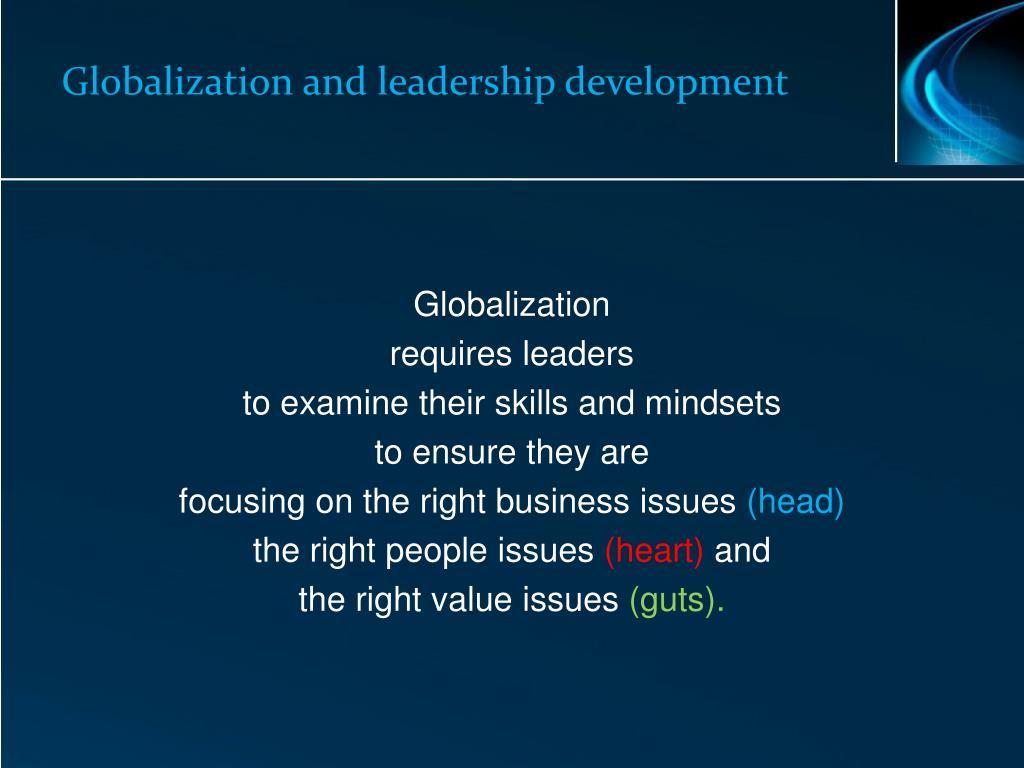 Globalization and leadership development