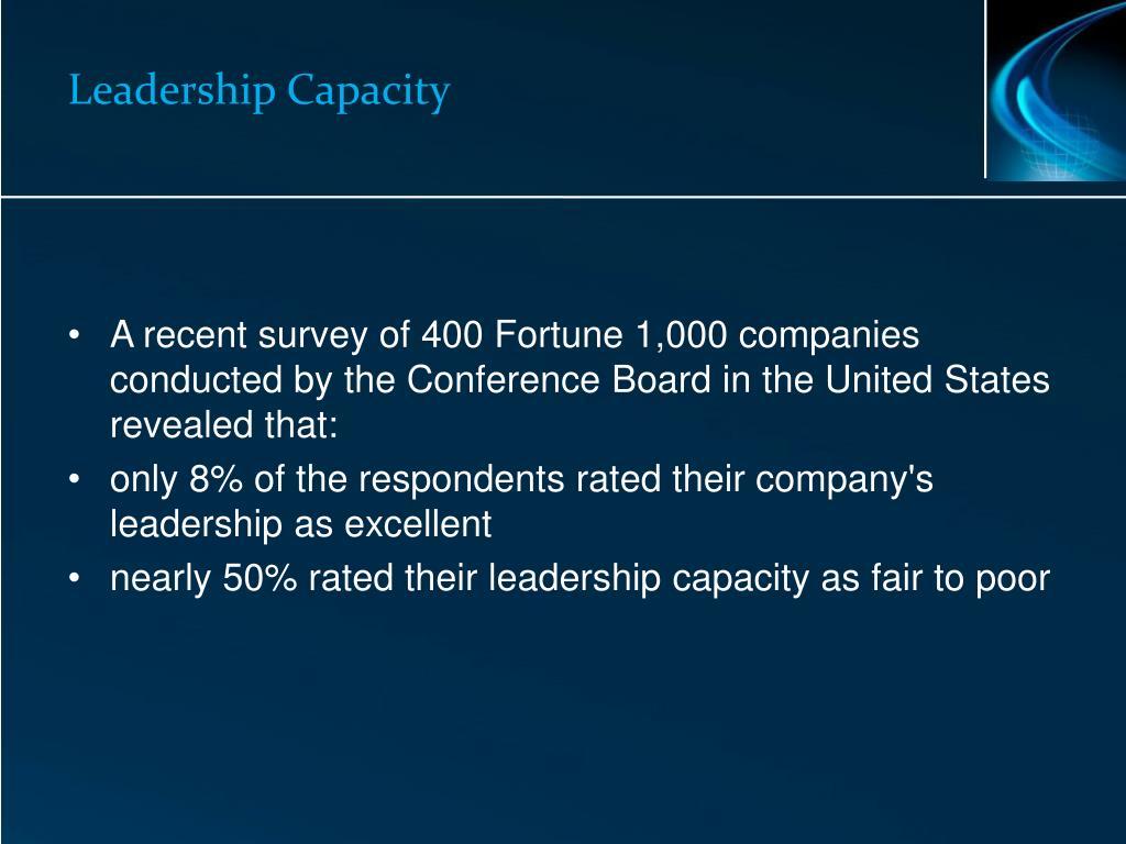 Leadership Capacity
