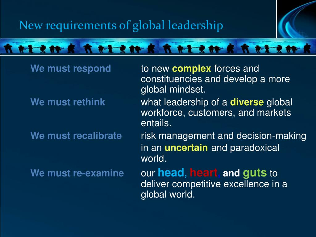 New requirements of global leadership