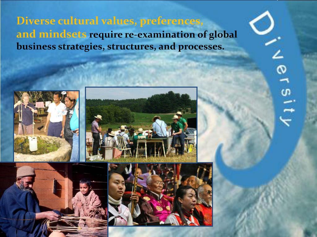Diverse cultural values, preferences,