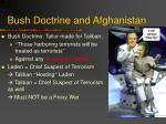 bush doctrine and afghanistan