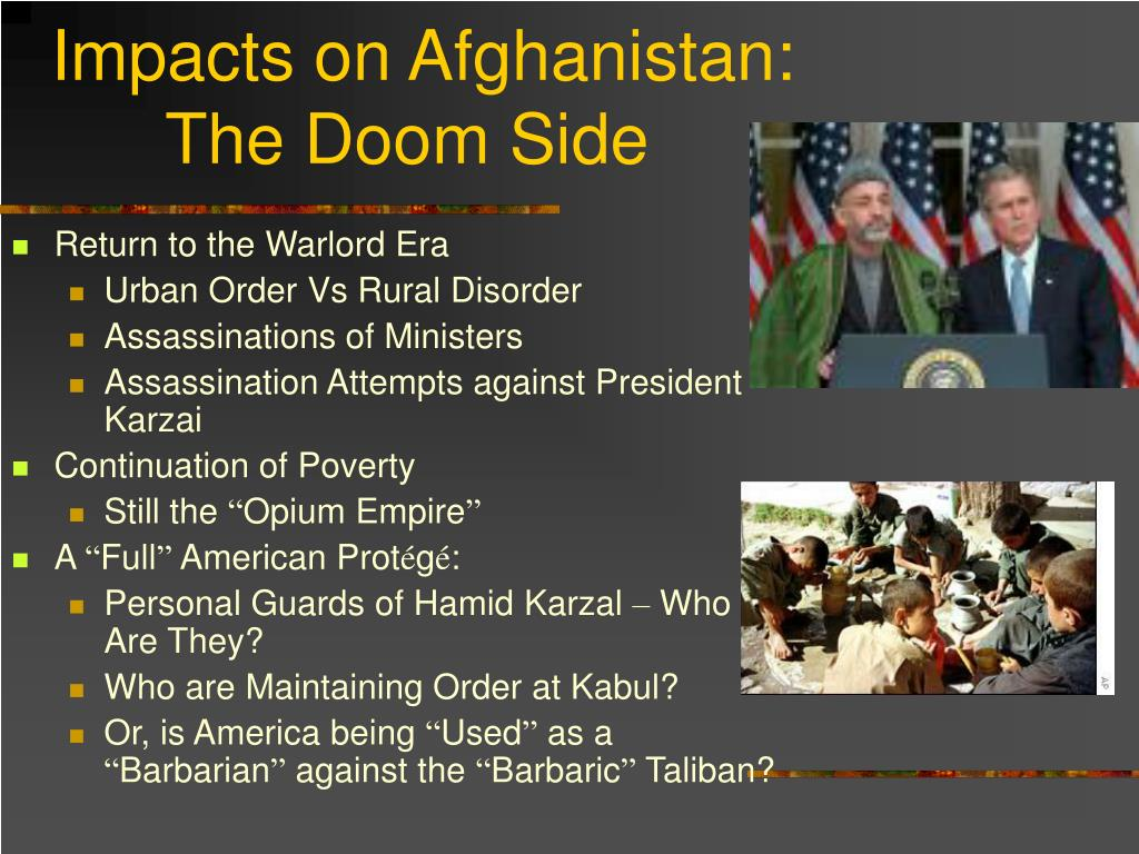 Impacts on Afghanistan: