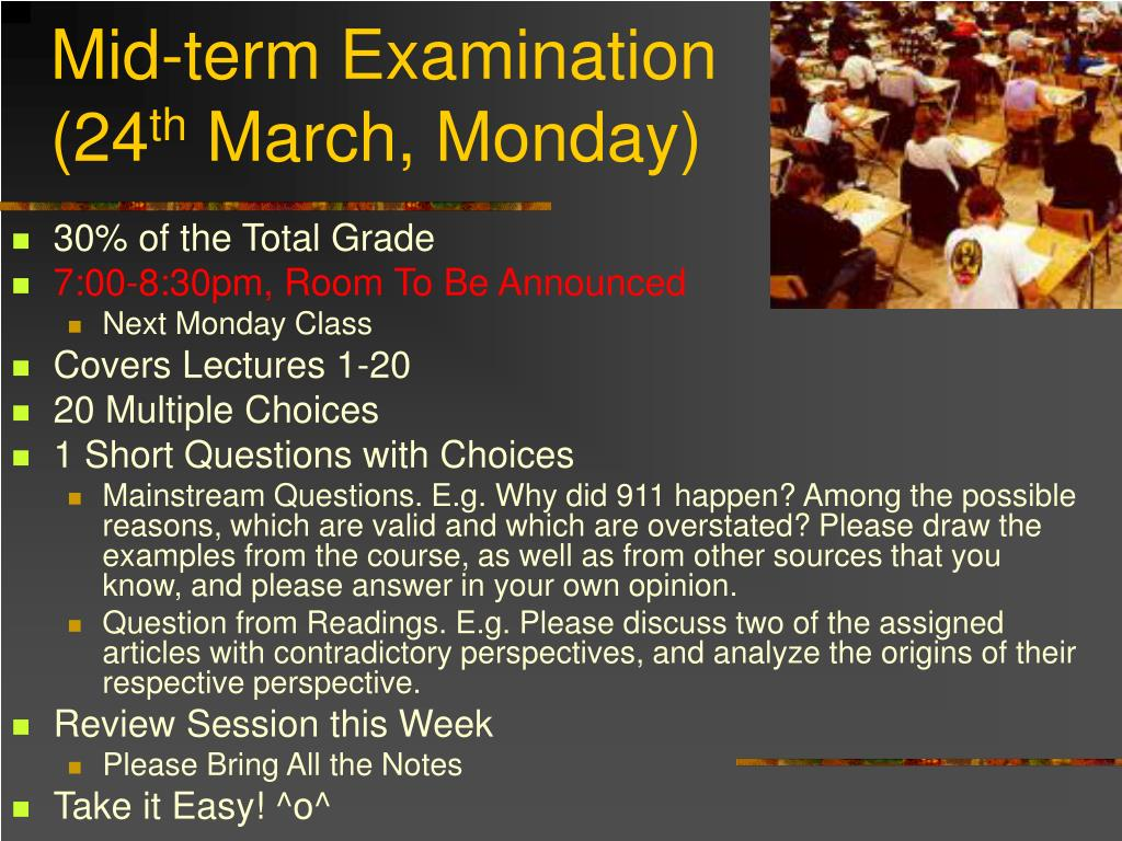 Mid-term Examination