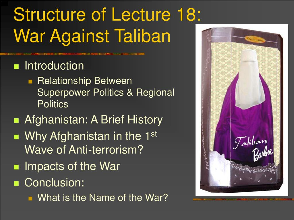 Structure of Lecture 18: