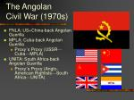 the angolan civil war 1970s
