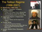 the taliban regime 1996 2001