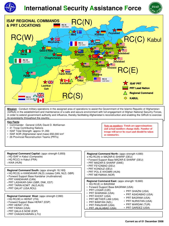 Isaf regional commands prt locations