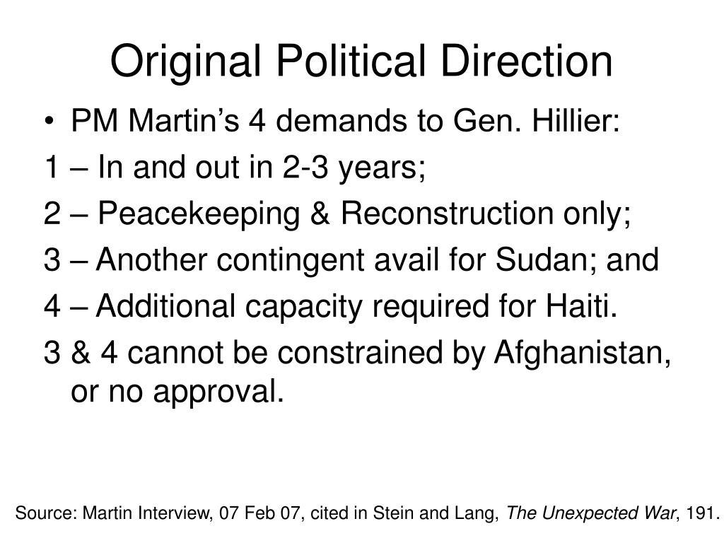 Original Political Direction
