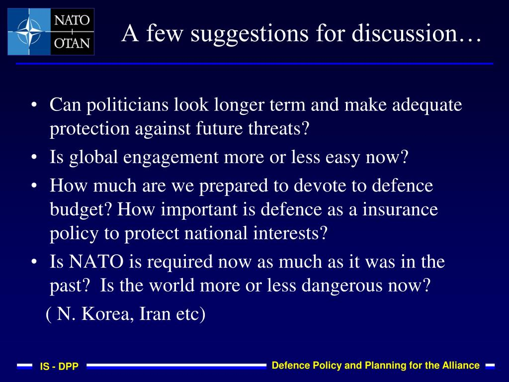 Can politicians look longer term and make adequate protection against future threats?