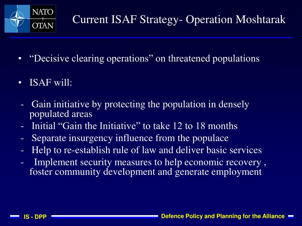 """Decisive clearing operations"" on threatened populations"