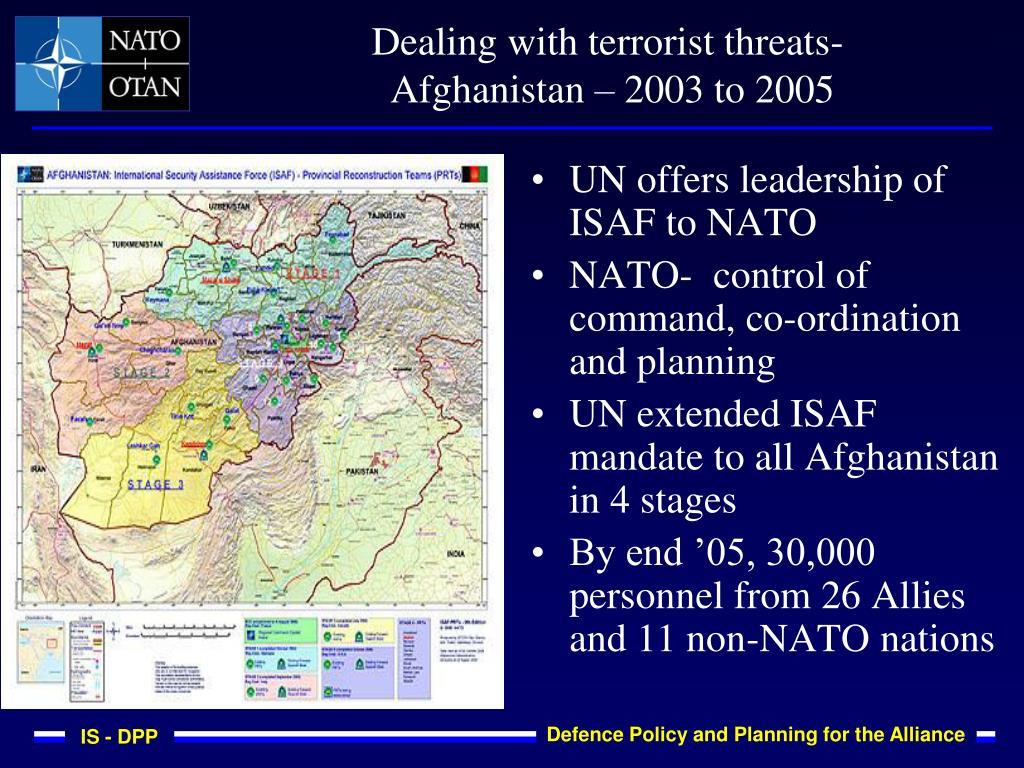 Dealing with terrorist threats-