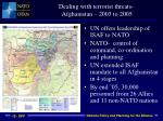 dealing with terrorist threats afghanistan 2003 to 2005