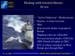 dealing with terrorist threats at sea