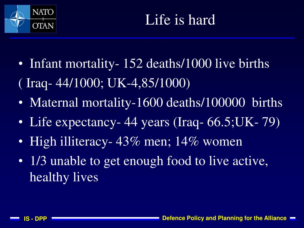 Infant mortality- 152 deaths/1000 live births