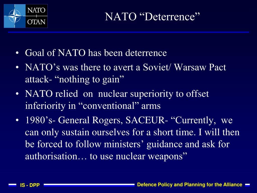 """NATO """"Deterrence"""""""