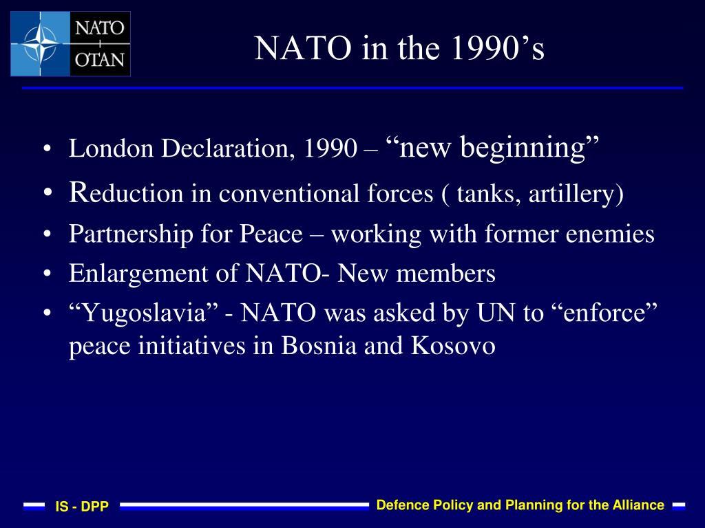 NATO in the 1990's