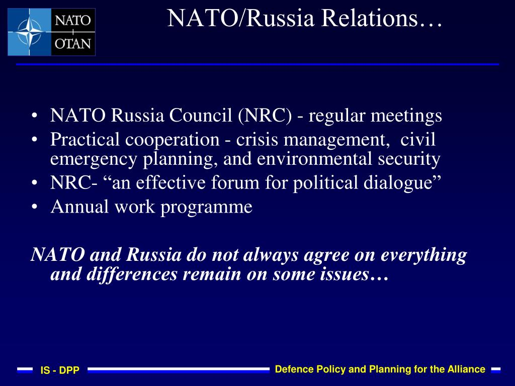 NATO Russia Council (NRC) - regular meetings