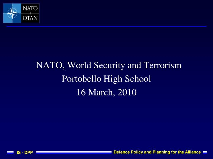 NATO, World Security and Terrorism