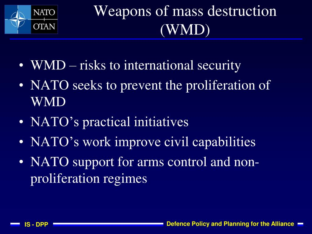 WMD – risks to international security
