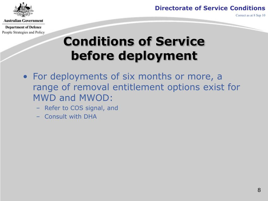 Conditions of Service