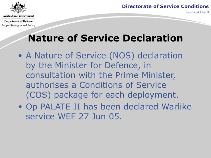 Nature of service declaration l.jpg